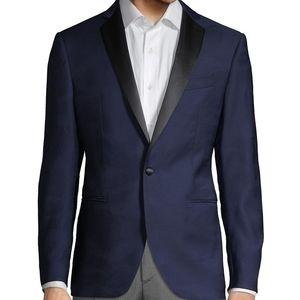 John Varvatos Navy Wool Tux Jacket